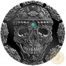 Republic of Cameroon KAPALA SKULL series WORLD CULTURES Silver coin 2000 Francs 2018 Antique black finish Ultra High Relief 2 oz