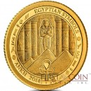 Palau ANKH Gold coin EGYPTIAN SYMBOLS series $1 Proof 2014