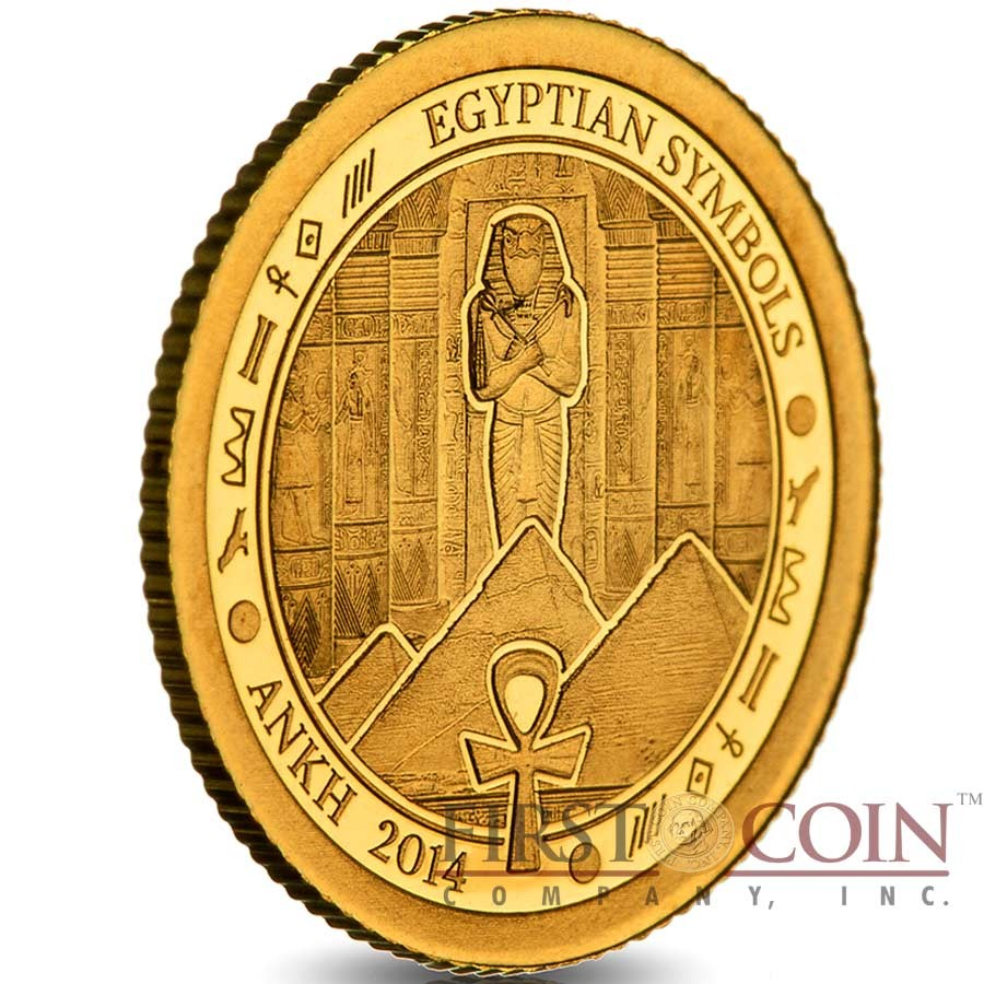 Palau Ankh Gold Coin Egyptian Symbols Series 1 Proof 2014