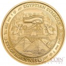 Palau EYE OF HORUS Gold coin EGYPTIAN SYMBOLS series $1 Proof 2015