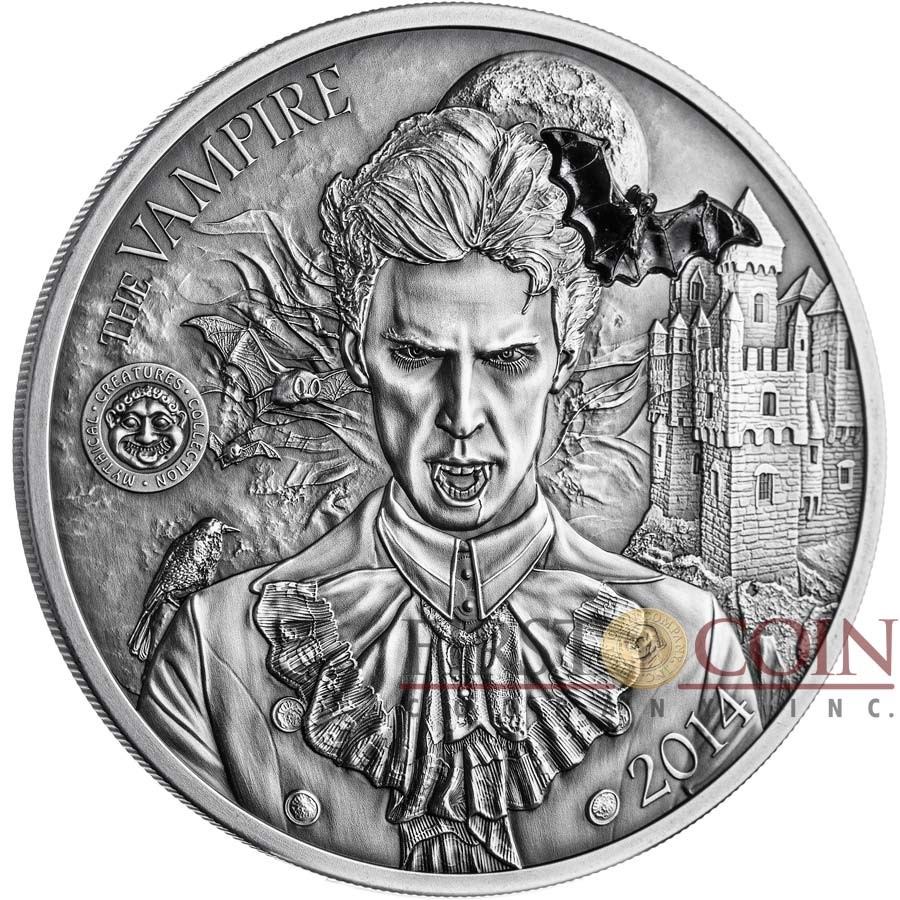 Palau Vampire Silver Coin Mythical Creatures Series 10