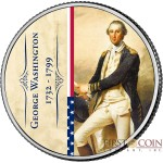 USA 285th BIRTHDAY OF GEORGE WASHINGTON 1st PRESIDENT OF USA series COIN OF THE MONTH $0.25 Quarter Dollar 2017