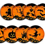 USA HALLOWEEN 7 x 25 Cents/Quarter Copper-Nickel Seven Coin Collection Set Cold Enamel 2008