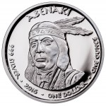 USA TRIBE ABENAKI NEW HAMPSHIRE BOBCAT NATIVE STATE DOLLARS series JAMUL - NATIVE AMERICAN NATIONS $1 Silver coin 2016 Proof 1 oz