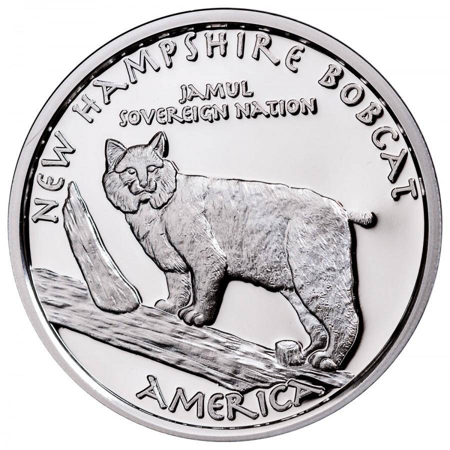 USA TRIBE ABENAKI NEW HAMPSHIRE BOBCAT NATIVE STATE DOLLARS series JAMUL - NATIVE AMERICAN NATIONS $1 Silver coin 2016 Proof 1 oz