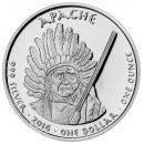USA TRIBE APACHE ARIZONA RATTLESNAKE NATIVE STATE DOLLARS series JAMUL - NATIVE AMERICAN NATIONS $1 Silver coin 2016 Proof 1 oz