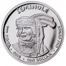 USA TRIBE SEMINOLE FLORIDA ALLIGATOR NATIVE STATE DOLLARS series JAMUL - NATIVE AMERICAN NATIONS $1 Silver coin 2016 Proof 1 oz