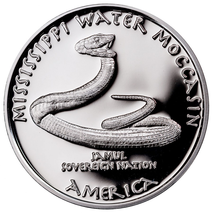 USA TRIBE CHOCTAW MISSISSIPPI WATER MOCCASIN NATIVE STATE DOLLARS Series JAMUL - NATIVE AMERICAN NATIONS $1 Silver coin 2017 Proof 1 oz