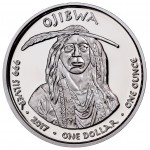USA TRIBE OJIBWA MICHIGAN SWAN NATIVE STATE DOLLARS Series JAMUL - NATIVE AMERICAN NATIONS $1 Silver coin 2017 Proof 1 oz