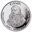 USA TRIBE KIOWA WYOMING HORNED LIZARD NATIVE STATE DOLLARS Series JAMUL - NATIVE AMERICAN NATIONS $1 Silver coin 2018 Proof 1 oz
