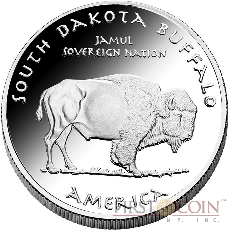 USA TRIBE SIOUX SOUTH DAKOTA BUFFALO NATIVE STATE DOLLARS Series JAMUL - NATIVE AMERICAN NATIONS $1 Silver coin 2016 Proof 1 oz