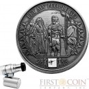 Burkina Faso LET MY PEOPLE GO NANO MOSES TALES OF THE BIBLE Silver coin 1000 Francs Antique finish 2015 Nano chip insert 1 oz