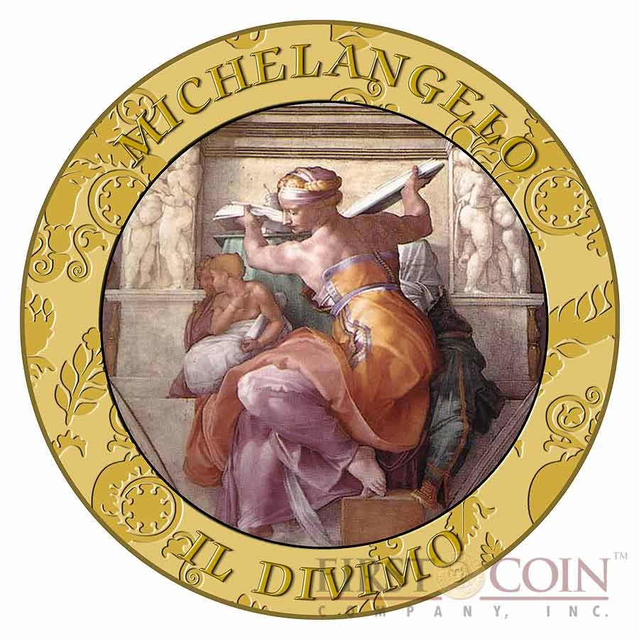 Italy 450 YEARS MICHELANGELO 7 x 50 Lire Copper-Nickel Seven Coin Collection Set Cold Enamel 1954 - 1989