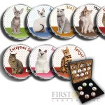 USA CATS 7 x 25 Cents Copper-Nickel Seven Coin Collection Set Cold Enamel 2001