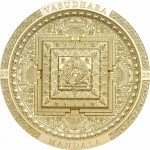 Mongolia VASUDHARA MANDALA series ARCHEOLOGY and SYMBOLISM 2000 Togrog Silver Coin Antique finish 2020 Ultra High Relief Smartminting Gold plated 3 oz