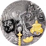 Cook Islands ZHAO GONGMING series ASIAN MYTHOLOGY $20 Silver Coin Antique finish Ultra High Relief Smartminting 2021 Gold plated 3 oz