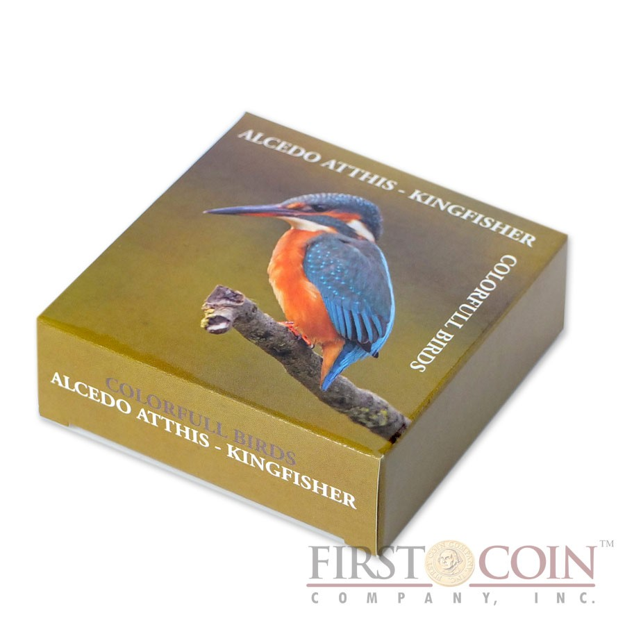 Andorra EUROPEAN KINGFISHER series BIRDS Silver Coin 5 Diners 2014 Colored