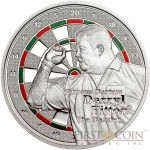 Cook Islands Darryl Fitton $1 series Famous Darters Copper Silver Plated coin Colored Proof 2014