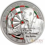 Cook Islands Gary Robson $1 series Famous Darters Copper Silver Plated coin Colored Proof 2014