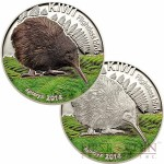 Cook Islands Kiwi $10 Flightless Birds series Two Colored Silver coin Set High Relief 2014 Proof 2 oz