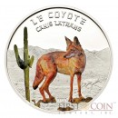 "Niger Canis Latrans Coyote ""Predator Hunters"" series Silver coin 1000 Francs Colored 2013 Proof"