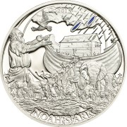 Palau ARC OF NOAH series BIBLICAL STORIES Silver coin $2 Partly enameled 2013 Proof