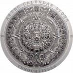 Cook Islands AZTEC CALENDAR STONE series ARCHEOLOGY and SYMBOLISM $20 Silver Coin Antique finish 2018 Ultra High Relief Smartminting 3 oz