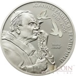 Palau BEATIFICATION OF JOHN PAUL II series RELIGIOUS PEOPLE Silver coin $2 White enameling Proof 2011