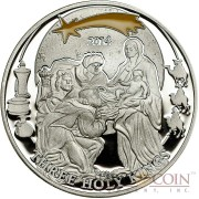 Palau HOLY THREE KINGS series BIBLICAL STORIES Silver coin $2 Partly enameled 2014 Proof