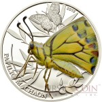 Palau PAPILIO MACHAON BUTTERFLY series WORLD OF INSECTS $2 Silver coin Proof 2013
