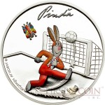 Cook Islands CTYRLISTEK PINDA $1 series CTYRLISTEK CARTOONS  Copper-Nickel Silver plated Colored coin 2013 Proof