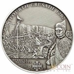 Cook Islands 4th Crusade: Dandolo of Venice $5 History of the Crusades Series Silver coin Antique finish 2010