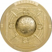 Cook Islands DENDERA ZODIAC EGYPT series ARCHEOLOGY and SYMBOLISM $20 Silver Coin Antique finish 2020 Ultra High Relief Smartminting Gold plated 3 oz