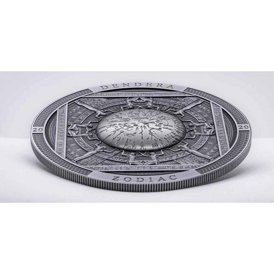 Cook Islands DENDERA ZODIAC EGYPT series ARCHEOLOGY and SYMBOLISM $20 Silver Coin Antique finish 2020 Ultra High Relief Smartminting 3 oz