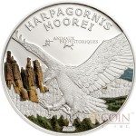 Gabon EAGLE HARPAGORNIS MOOREI series PREHISTORIC WILDLIFE Silver coin 1000 Francs Colored Proof 2013