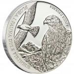 Andorra GOLDEN EAGLE AGUILA DAURADA 2011 Series PYRENEES WILDLIFE 5 Diner Silver Coin 2011