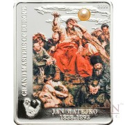 Cook Islands JAN MATEJKO WERNYHORA series MASTERPIECES OF ART $5 Colored Silver Coin Proof 2009