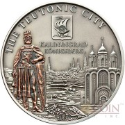 Cook Islands KALININGRAD RUSSIA series HANSEATIC LEAGUE SEA TRADING ROUTE $5 Silver coin Antique finish with Bronze plating 2010