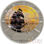 Tokelau LADY LOVIBOND series GHOST SHIPS $5 Silver coin 2015 Antique finish Colored