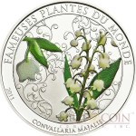 Benin LILY OF THE VALLEY series FAMOUS PLANTS 100 Francs Copper-Nickel Silver plated coin Lily Scented 2011 Proof