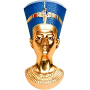 Palau NEFERTITI BUST series EGYPTIAN ART 3D Silver coin $20 Ultra high relief Smartminting 2019 Gold plated 3 oz