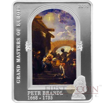 Cook Islands PETR BRANDL series MASTERPIECES OF ART $5 Colored Silver Coin Proof 2010