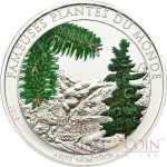 Benin ABIES NUMIDICA series FAMOUS PLANTS 100 Francs Pine Tree Scented Copper-Nickel Silver plated coin 2010 Proof