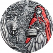 Cook Islands LITTLE RED RIDING HOOD series FAIRYTALES & FABLES $20 Silver Coin Antique finish 2019 High relief 3 oz