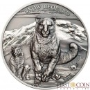 Mongolia SNOW LEOPARD series HIGH RELIEF ANIMALS 500 Togrog Silver Coin 2017 Smartminting Antique and Proof finish High Relief 1 oz