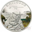 Ivory Coast SABRE TOOTH TIGER series PREHISTORIC WILDLIFE Silver coin 1000 Francs Colored Proof 2011