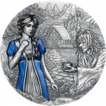 Cook Islands SNOW WHITE series FAIRY TALES & FABLES $20 Silver Coin Antique finish 2021 High relief 3 oz