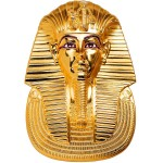 Palau TUTANKHAMUN MASK series EGYPTIAN ART 3D Silver coin $20 Ultra high relief Smartminting 2018 Gold plated 3 oz