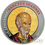 Palau SANCTUS IOANNES $1 Copper Silver Plated coin Colored Prooflike 2009
