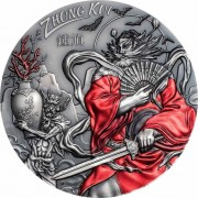 Cook Islands ZHONG KUI series ASIAN MYTHOLOGY $20 Silver Coin Antique finish 2019 Ultra High Relief Smartminting 3 oz